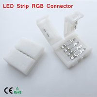 Wholesale 1Pcs pin LED Strip light connectors mm PCB board wire connection for RGB Colors
