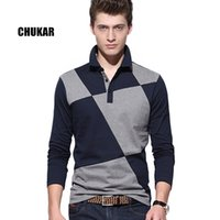 authentic polo - M XXL Authentic patchwork casual shirt Fitness fashion cotton luxury casual shirt