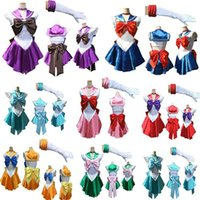 Wholesale Anime Pretty Soldier Sailor Moon Cosplay Costume Fancy Dress Cartoon Movie Cosplay Girl Mercury Dress Sexy Halloween Costumes