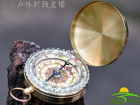 Wholesale Brass Pocket Watch Style Camping Compass Hiking Outdoor brand New