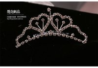 Cheap 2015 Shining Beaded Crystals Wedding Crowns Bridal Crystal Tiara rhinestone Crown Headband Hair Wedding Accessories