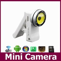 Wholesale Full HD1080P WIFI camera IP camera with retail package for PC computer remote control by smart mobile Mini camcorders