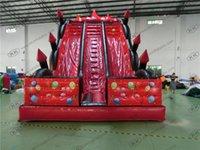big backyard - Red castle inflatable bouncy slide for sale Discount inflatable jumping slides for kids inflatable big dry slide