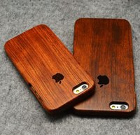 For Apple iPhone wooden case - Creative Real Wood Wooden phone Case Back Cover for iPhone plus