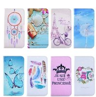 bicycle bling - Eiffel Tower Dreamcatcher Bling Diamond Shell Flower Butterfly Wallet Leather For Galaxy S7 Edge A3100 A5100 A7100 Bicycle Holder Card Pouch