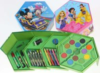 Wholesale Mickey Painting watercolors suit Education Toys kindergarten gift Art Set pupil drawing suit crayon Pastels school supplies L182C