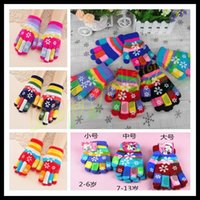 Wholesale 12pair Child adult double thick gloves winter gloves Christmas snowflake cute finger gloves kids warm gloves boy girl winter mittens S M L