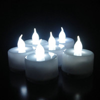 Wholesale LED Smokeless Flickering Battery Candles Tea Light white light Christmas party ritual decoration