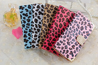 Cheap For 4.7'' iPhone 4 4S 5 5S 6 Luxury Diamond Leopard Print Smooth Wallet PU Leather Case Cover With Card Slot for Apple Samsung s5 note3