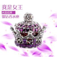 Wholesale New car seat perfume perfume luxury diamond crown diamond emperor Car Interior Decoration Creative