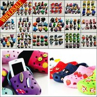 Wholesale Free DHL Mixed Avengers Lego Despicable Me My Little Pony Cartoon PVC Jibbitz Shoe Charms Shoe Buckle Fit Bracelets Shoe Accessories