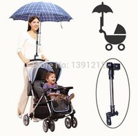 adjustable bar chairs - 100PCS Useful Baby Buggy Bicycle Stroller Chair Umbrella Bar Holder adjustable Mount Stand Handle Black Free express