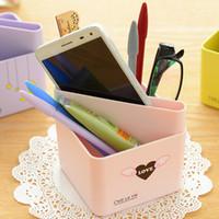 Wholesale Stationery sortable holder Candy Love pencil pen holder desk organizer de escritorio office accessories School material