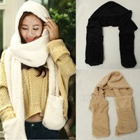 winter hat scarf and glove set - New Winter Fashion And Warm Hats For Women Gloves Triad Hat and Scarf Set For Women Colours