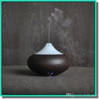 Wholesale Brand new Wood Grain LED Aroma Diffuser Ultrasonic Air Aromatherapy Mist Purifier Humidifier with Power Adapter for US AU EU UK