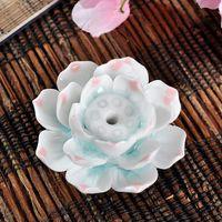 Wholesale Ceramic handmade lotus Incense Burner Multi style incense holder for incense stick aromatherapy