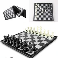 Wholesale Folding Champions Chess Set in Travel Magnetic Chess and Checkers Set quot kid s best gift D714J