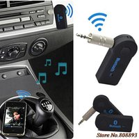 Wholesale New Hot mm AUX Bluetooth Wireless Stereo Audio Music Receiver Adapter for iPhone iPod