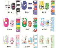 Wholesale New CUTE D Nail Art Stickers Decals ADHESIVE Patch Foils Wrap optional Designs Nail Sticker Freeshipping