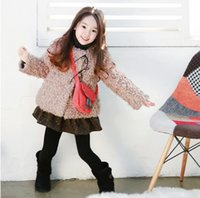 warm up jackets - 2015 Fleece Solid Color Lace up Warm Children Clothing Girls Jackets Tops Coat Kids Clothes Cardigan Coats Jacket D5439