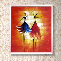 artwork dancers - 100 High Quality Hand painted Modern Abstract Oil Painting Ballet Dancer Painting Contemporary Wall Decor Artwork
