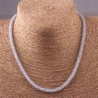 stainless steel necklace clasp - 45cm Fashion Stainless Steel Magnetic Clasp Bling Crystal Clasp Mesh Chain Necklace for Women