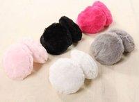 Wholesale 2014 New Hot fashion brand Ear Muffs Cute cotton warm earmuffs Thin frame short plush ears earmuff for women Ear Muffs EZ002