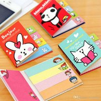 Wholesale Cute Cartoon Notes Scratchpad Sticker Notepads Post It Bookmark Point It Marker Memo Flags Sticky Notes Office School Stationery