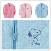 Wholesale girl thickening pullover cotton outwears warm winter kids clothing childrens coats boy jacket blue red clothing D1990