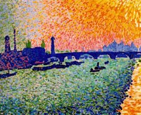One Panel andre derain art - Wall art modern Canvas Painting oil The Bridge view on the river by Andre Derain High Quality Handmade