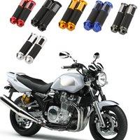 bike cnc - 1Pair Ergonomic MotorCycle Handlebar Grips CNC Aluminum Rubber Gel Hand Grips Motorcycle Sports Bike Pit Bike Hnadbar