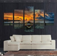art pictures for living room - Hot Sell Unframed Large HD Seaview With ShipTop rated Canvas Print Painting for Living Room Wall Art Picture Gift Decoration Home