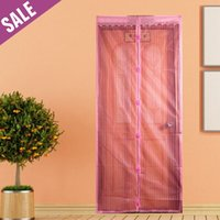 Wholesale Fashion Pattern colors Good Quality Magnetic Anti mosquito door curtain Anti insect Hands free magnetic anti mosquito curtain