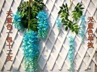 Wholesale Top Sale Artificial Silk Flower Wisteria Vine Rattan For Wedding Centerpieces Decorations