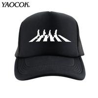 beatles logos - FASHION Casual Hip Hop Logo Custom The Beatles Punk Rock Band Cool Mens Knit Hats And Snapback Caps Sport Brand Winter