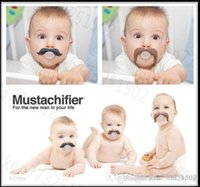 Wholesale Infant silicone Pacifier Hot Funny Dummy Dummies Pacifiers pacifiers baby teeth and funny personality creative teeth Mustache DHL free