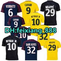 6a4edcca545 17 18 Paris home away third black soccer uniform football shirts soccer  jerseys neymar jr di maria cavani verratt MBAPPE DANI ALVES ...