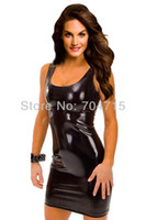 Wholesale Erotic nuisette Tight Leather Sexy Lingerie Queen Nightclub Temptation Suits latex vinyl Dress PVC Teddy Outfit