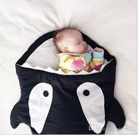 Wholesale Cartoon shark sleeping bag Newborns sleeping bag Winter Strollers Bed Swaddle Blanket Wrap cute Bedding baby Sleepsacks mix color free shipp