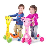 ride on toys - Cartoon Giraffe Children Scooter Wheel Kick Scooters Ride On Toys Outdoor Activity Sport