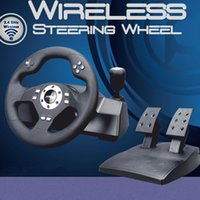 usb pc steering wheel - Qi Like KMP3105 wireless computer game steering wheel vibration PC USB Need for Speed GT racing simulation to learn to drive