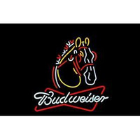 beer horses - BUDWEISER CLYDESDALE HORSE HANDICRAFT NEON SIGN REAL GLASS TUBE LIGHT BEER BAR PUB STORE x24 quot