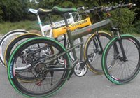 Wholesale 2x6 inch mountain bike speed mountain bike disc brakes front and rear aluminum frame speed folding bike