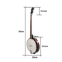 banjo strings tuning - IRIN banjo String Full Size Closed Back Brackets Geared th Tune with Maple Neck and PVC Head