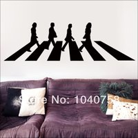 abbey road vinyl - The Beatles Abbey Road Vinyl Wall Stickers Decals Home Decor London Poster Adesivo De Parede Wall Paper Adhesive Photo Wallpaper