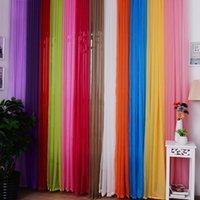 Wholesale Valances Colors Floral Tulle Voile Door Window Curtain PTSP