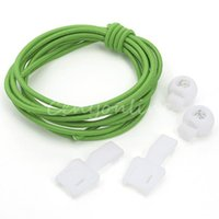 green shoelaces - Green Slip resistent Anti slip Locking Shoe Laces Elastic Shoelace For Running Jogging Triathlon Sports
