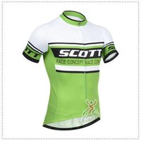 Wholesale 2015 scott men s cycling Jersey sets with short sleeve bike shirt padded bib short in cycling clothing breathable bicycle wear