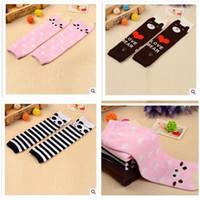 aa leggings - Korea Socks Animal Toddler Leg Warmer Leggings for Kids Children Baby Pig Bear Toddler Cotton Knee Cover Knee cap Socks Stocking Dhgate AA