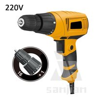 Wholesale 220 V W Multi function Electric Drill VariableSpeed HandElectric DrillHousehold ElectricScrewdriverTorsion Drill MiniTools